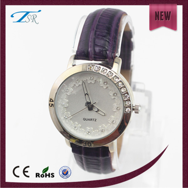 Women Watches Violet With Crystal Christmas