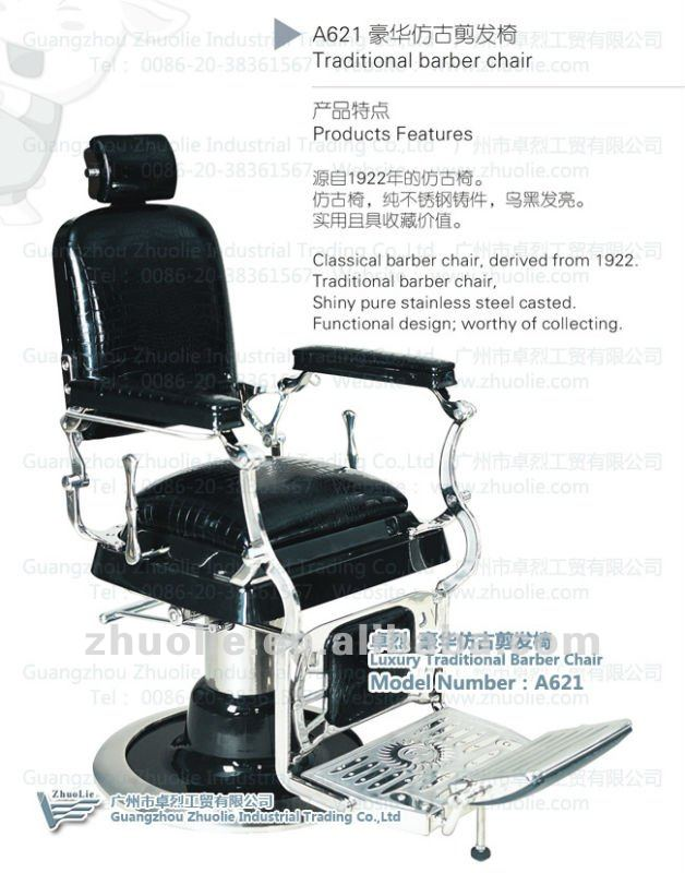 Luxury Barber Shop Equipment Furniture Hair Salon Chair for Sale