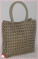2014China direct supplier 100% natural customized shape size and printed plain handmade cotton cloth beach bag