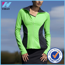 2016 Yihao wholesale custom ladies sweatshirt Classic contrast color fashion sportswear tracksuit