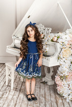 summer new style frock girl long skirts kids princess dress