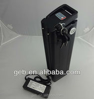 lifepo4 36v 15ah e-bike battery in black colour silver fish style