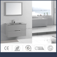 Hangzhou WUXING Factory bathroom vanity / wall cabinet /bathroom furniture set with glass basin, mirror