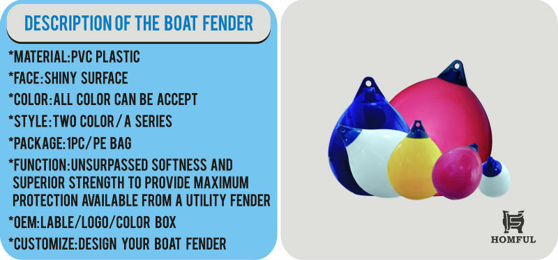 Protective weather fender stripping boat mooring buoy boat fenders