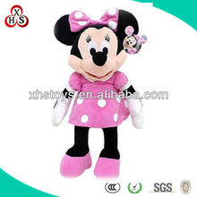 Cute and poplular pink plush and stuffed Minnie mouse toys