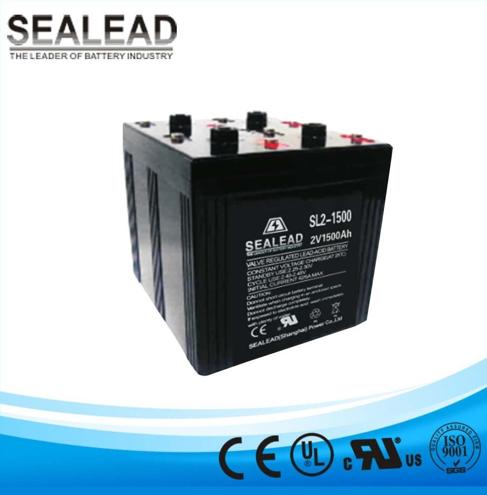 nominal 2v voltage 1500ah lead acid agm MF battery storage bank for solar power backup