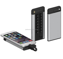 OEM Suction Power Bank 4000mAh Mini Backup Mobile Power Charger With Micro-USB Cable