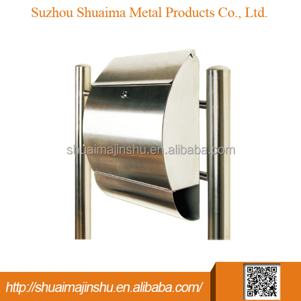 China wholesale market agents stainless steel metal post box