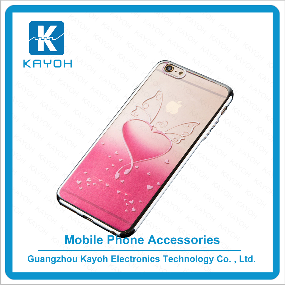 [kayoh] Gel transparent design 5 inch mobile phone back cover Clear Mobile Phone Tpu Cases For Iphone 6S