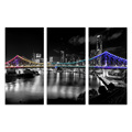 3 Panel HD Printed Bridge Photo Canvas Prints Cheap Customized Photography Prints Wall Picture Home Decor Dropship/SJMT1888