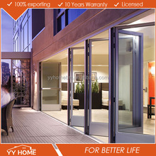 China Suppliers AS2047 Frame Aluminium bi fold door withTempered glass