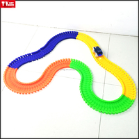 AS SEEN ON TV Amazing Racing car toys Magic Track with 5 LED lights and 165 pcs of glow tracks