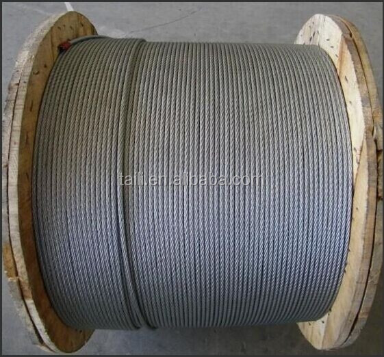 DIN3058 6X19S and DIN3059 6X19W ungalvanized steel wire rope price