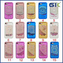 [GGIT] Electroplating Laser Etching Mirror Face Liquid Quicksand TPU Phone Case For IPhone 7 Celulares