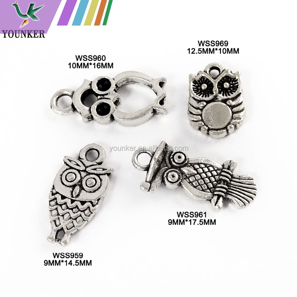New Design Fancy Shape Alloy Anti-Silver Colour Metal Charms