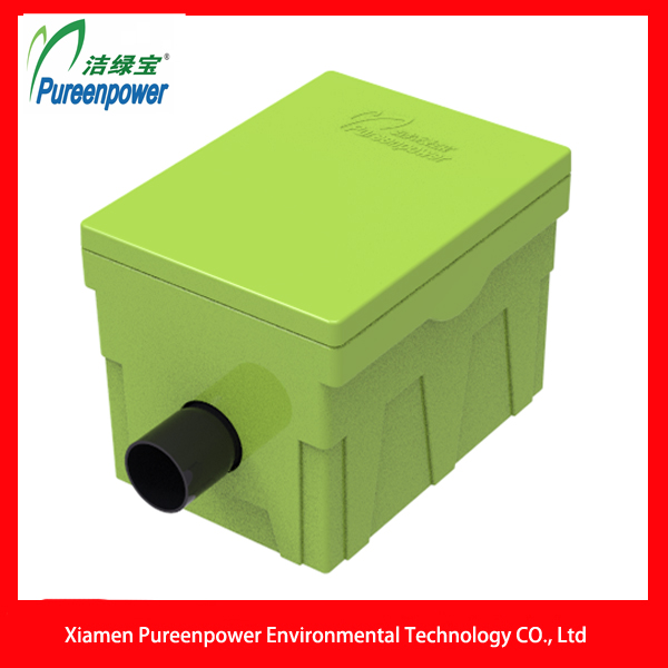Green Plastic Manual Grease Interceptor P-T5 for Household Kitchen Waste Water Treatment