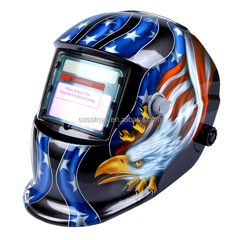 High Performance Welding Mask Solar Auto Darkening Welding Helmet cap Arc Tig Mig Grinding Eagle Welding &amp Soldering Supplies