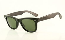 Best Quality Acetate Sunglasses Wholesale Mens's/Women's Fashion 2140 901 Black Sunglases G15 Green Lens 50mm
