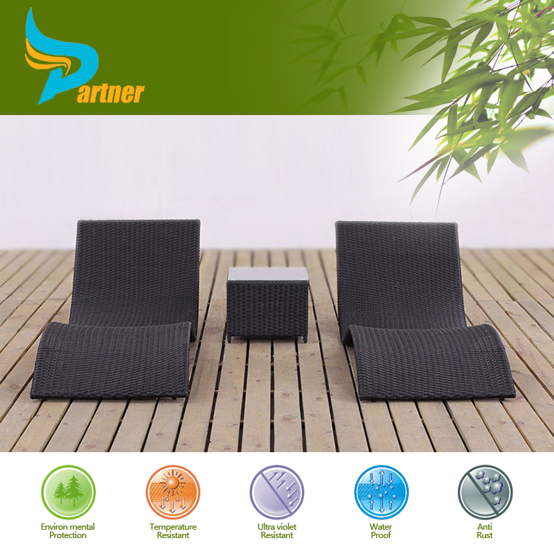 Free Style S Shape Outdoor Chaise Lounge Chair Furniture Set