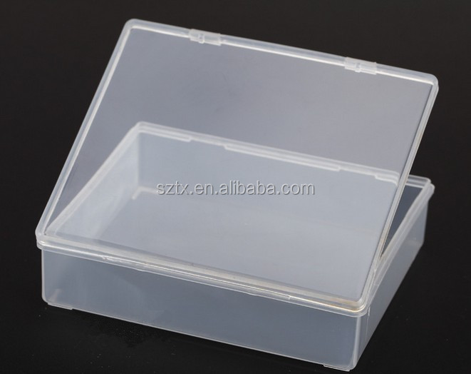 9.9*8.2cm transparent plastic sample box for small parts