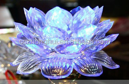 Optical Crystal transparent Flower Model