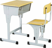 Adjustable School Furniture Single Desk and Chair / Study Table For Students
