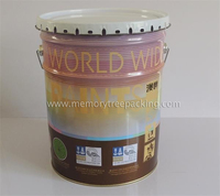 metal paint tin barrel with flower lid for paint