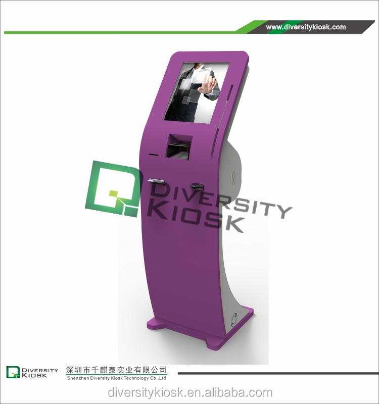 indoor self service wifi kiosk provider 42 inch classic style touch screen digital signage for hotel / bank