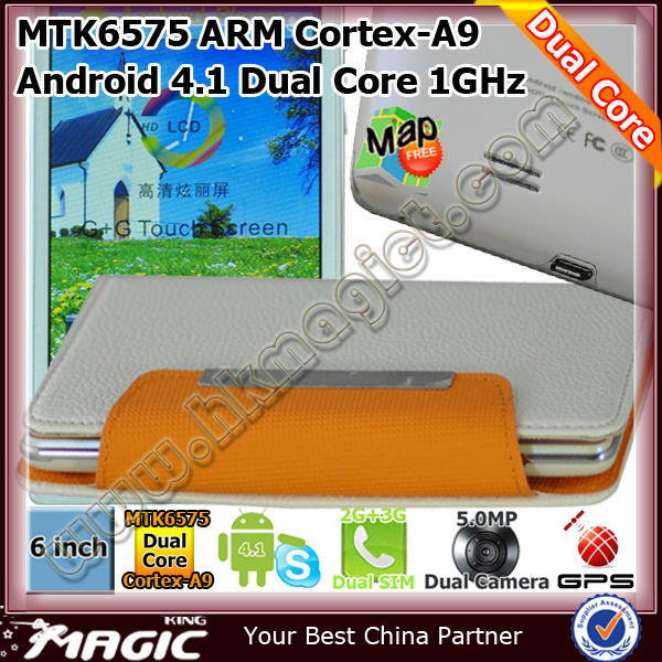 Hot mtk6577 dual core smart phone android 4.1 jelly bean