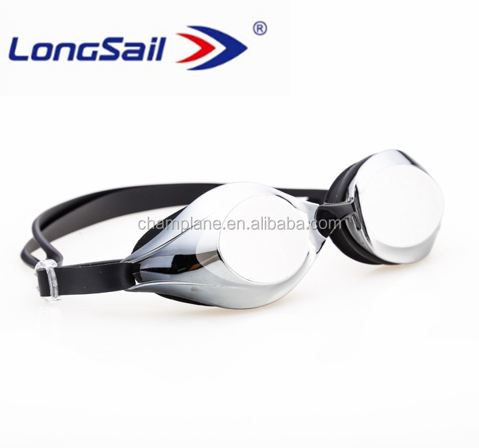 Black sillicone electroplate swimming goggles case