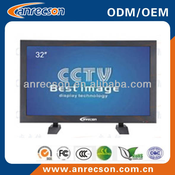 32'' Rugged Metal Case LCD CCTV Monitor for Security System