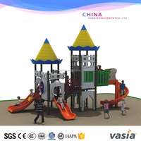 Commercial Sliding board For kids Public places digital playground tube led color