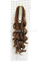LIP003 130g Women Long Curly Ribbon Ponytail Hairpiece Clip In Hair Extensions