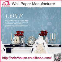 Guangzhou professional wallpaper manufacturer pvc wallcovering wholesale