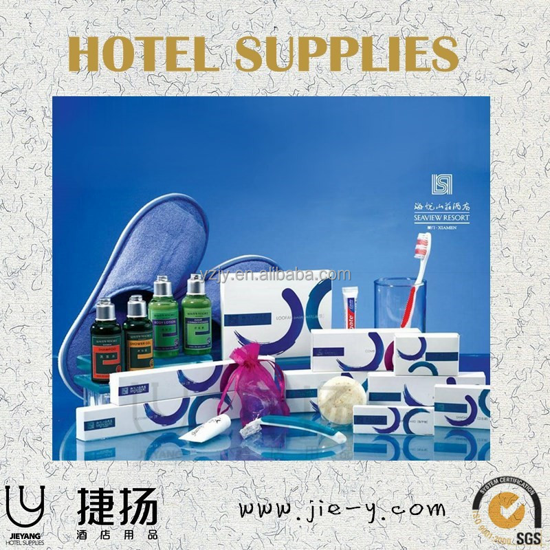 High quality high quality hotel amenity kit New style hotel amenities set -in pvc bag High quality leaf-like glass basin in bath