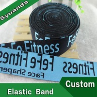 Heavy Duty Fabric Jacquard Elastic Band For Fitness