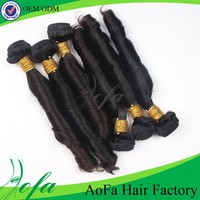 Whole sale 18inch Brazilian Unprocessed curly Sensual hair weave