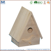 wooden bird house and wooden bird feeder for chrismas ornaments bauble