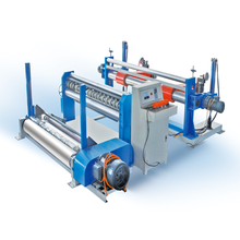 Automatic rool to roll paper tube slitter rewinder machine