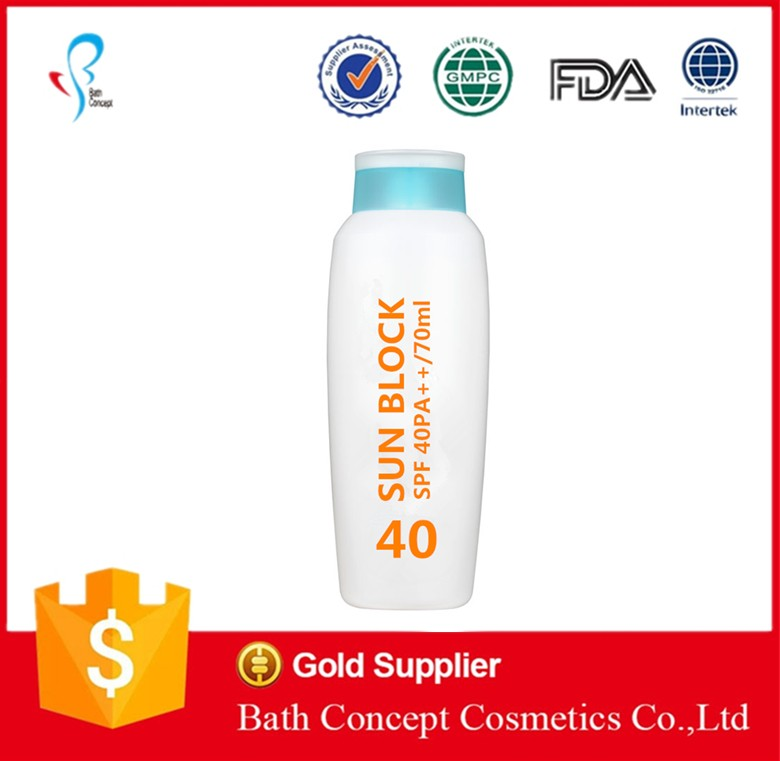 OEM factory SPF30 sun block cream and sunscream for face and body