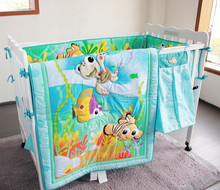 cartoon design baby cot bedding set /baby crib bedding set/baby bed sheet