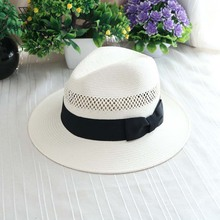 2017 Summer Travel White Panama Folding Straw Hat For Man