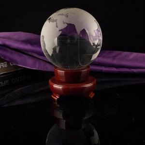 Crystal glass world Globe Crystal Ball world map for Office Decoration