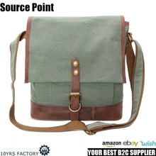 YD-1815 Fashion casual cotton canvas sling cross body messenger bag for men