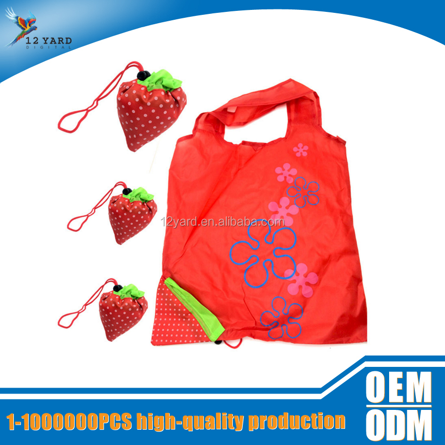 Wholesale promotional custom recycle 210d foldable shopping bag