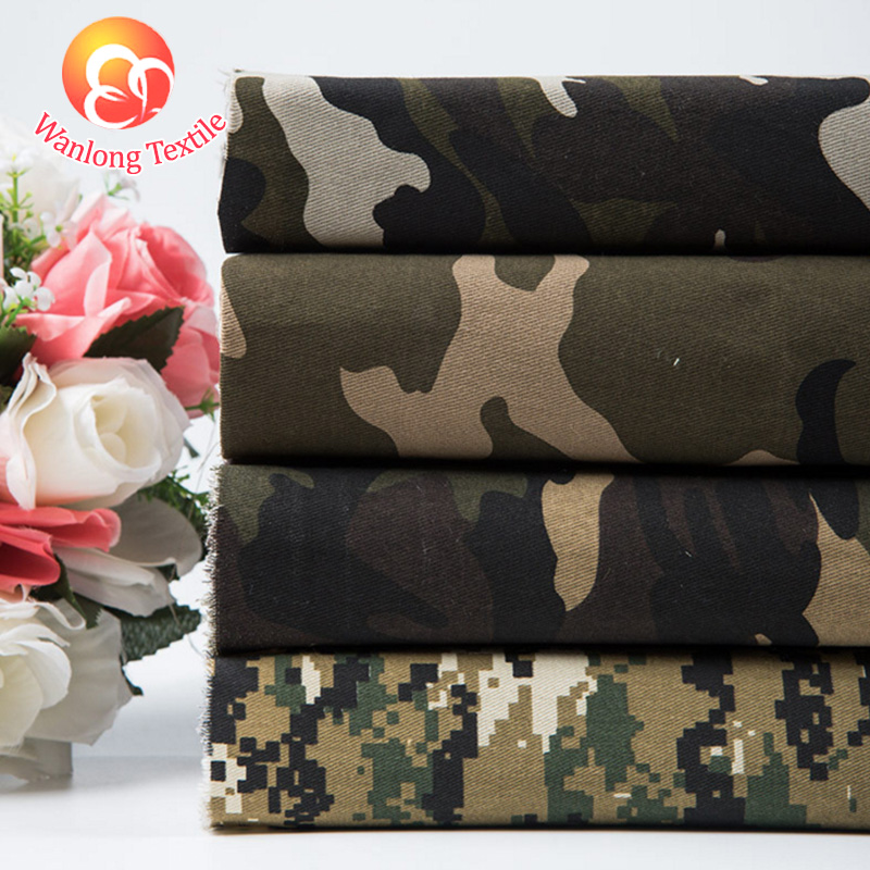 Factory Wholesale Polyester Garments Army Uniform Military Camouflage Fabric
