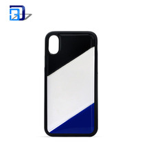 Ultra Slim Shockproof PU Mirror Case , Frame Bumper + Mirror Reflective Effect PC Case Cover For Iphone X