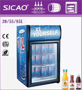 CE RoHS EMC High quanlity glass door showcase commercial refrigerator with temperature control