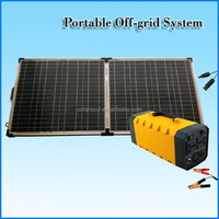 100 watt sunpower portable folding solar panel kits