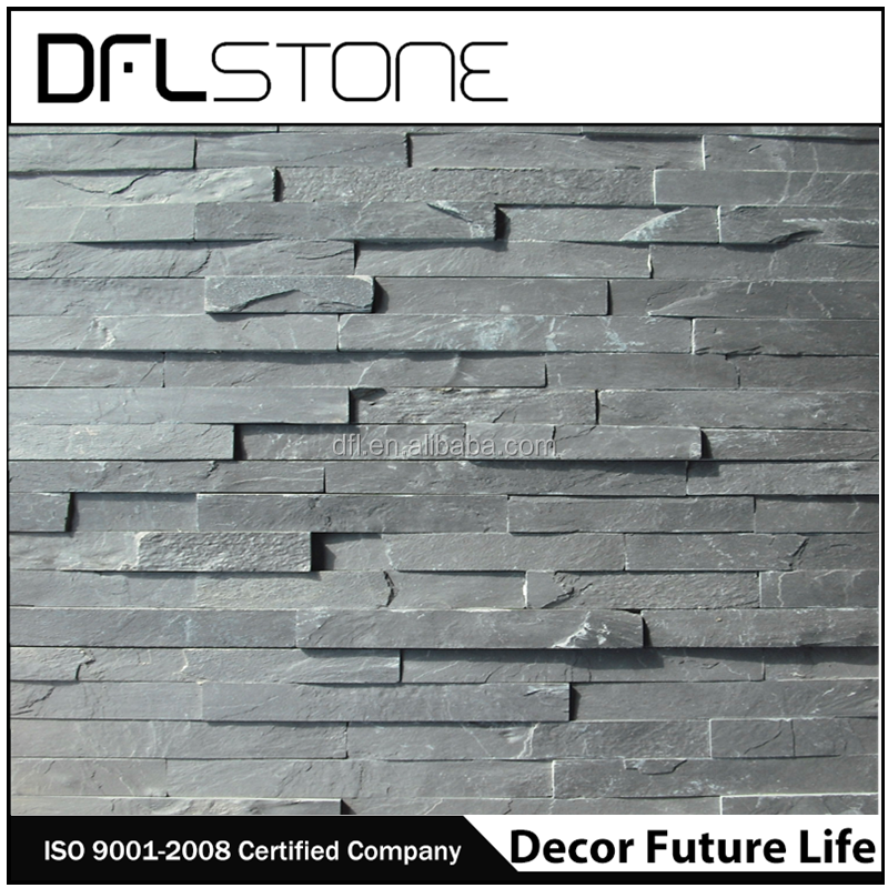 Promotional products natural black culture slate wall claddings ledge stone price